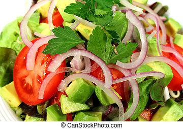 lancé, délicieux, salade