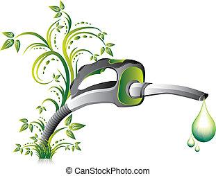 lance, pompe, vert, carburant
