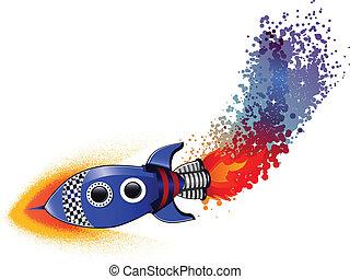 lancement fusée, espace