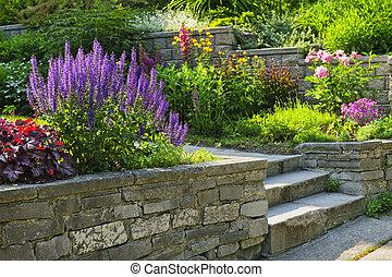 landscaping, jardin pierre