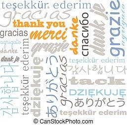 langues, vous, tagcloud, remercier