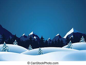 lanscape, hiver
