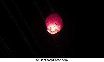lanternes, ciel, fils, succès, puissance