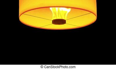 lanternes, flotteur, isolé, beau