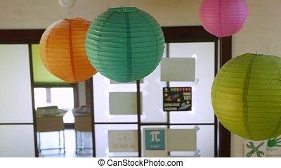lanternes papier, décoration