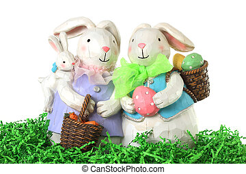 lapin pâques, famille