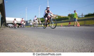 large, cyclisme, marathon., -, hd, vue