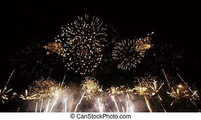 large, fireworks., angle, -, hd, vue