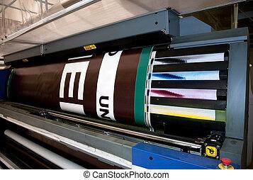 large, imprimante, format, -, impression, numérique