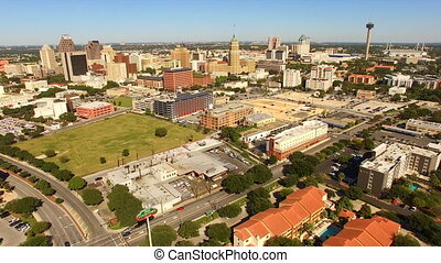 large, san antonio, panoramique, horizon, sud, cantral, texas