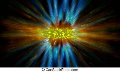 laser, rayons, éblouissant, lumière