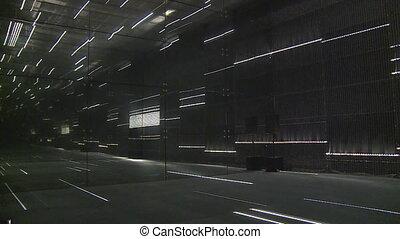 laser, salle, moderne, lituanie, pavillon, lumières, expo, exposition, international