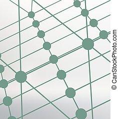 lattice., dots., résumé, lignes, polygonal, arrière-plan., maille, conception, portée, polygons., grille, moléculaire, style., structural