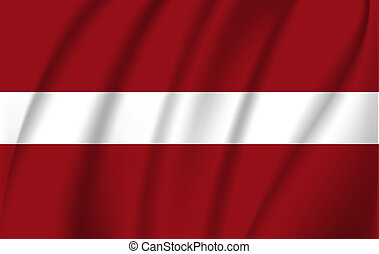 latvia., détaillé, réaliste, drapeau, a, tissu, texture.