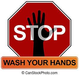 lavage main, signe