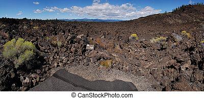 lave, paysage, rocher