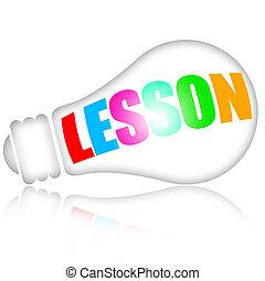 leçon, apprentissage