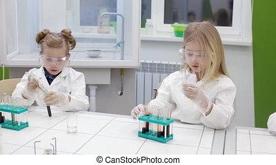 leçon, chimie, école, primaire