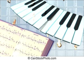 leçon, clã©, piano, instrument, musical