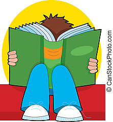 lecture garçon, jeune