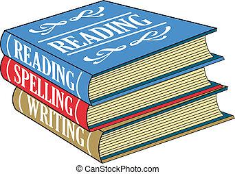 lecture, livres, orthographe, écriture