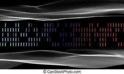 lent, 4096x2304, mouvement, objet, raies, vague, animation, vidéo, futuriste, boucle, 4k