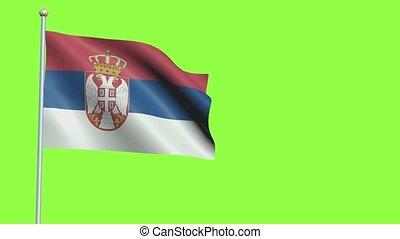 lent, serbie, mouvement, drapeau