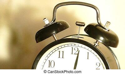 lent, sonner, horloge, vendange, reveil, -, mouvement