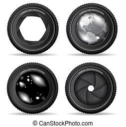 lentille, appareil photo, vecteur, illustration