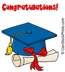 lentille bleue, diplômé, diplôme