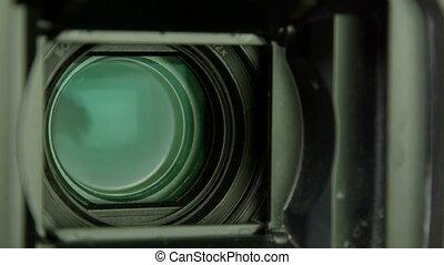 lentille, dolly:, appareil photo, vidéo, zoom