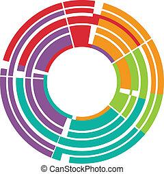 lentille, résumé, appareil photo, image, coloré