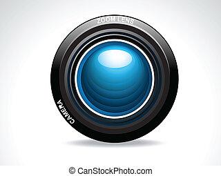 lentille, résumé, appareil photo, lustré
