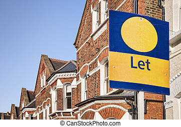 "let"", signe, typique, espace, red-brick, west-london., maison mitoyenne, "", copie"