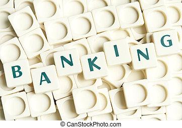 leter, banque, fait, mot, morceaux
