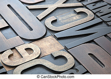 letterpress, fond