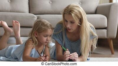 letters., baby-sitter, enseignement, girl, millennial, écriture, femme, peu