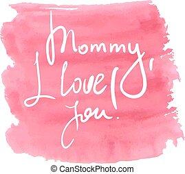 lettrage, jour, mères