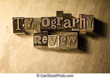 lettrage, letterpress, métal, revue, -, typographie, signe