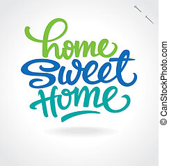 lettrage, main, doux, 'home, home'