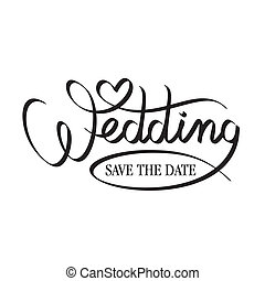 lettrage, mariage, main