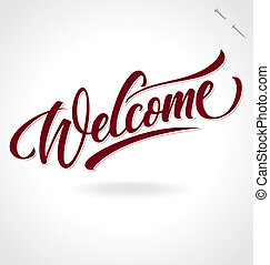 lettrage, 'welcome', (vector), main