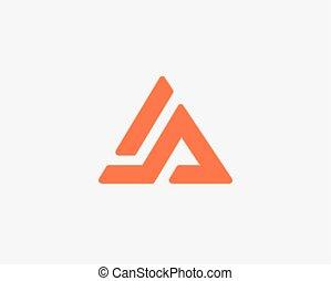 lettre, alphabet, logo, ensemble, icône