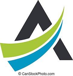 lettre, illustration, gabarit, logo, swoosh, 10., eps, vecteur, design.