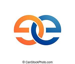 lettre, logo, e