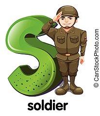 lettre, soldat, s