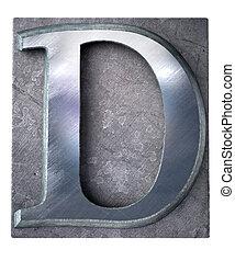 lettre, typescript, d, majuscule