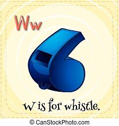 lettre, w