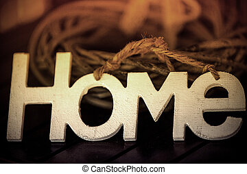 lettres, blanc, mot, maison