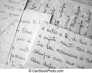 lettres, fond